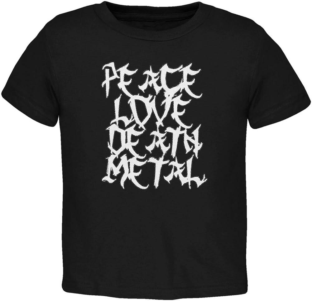 Peace Love Death Metal Black Toddler T-Shirt