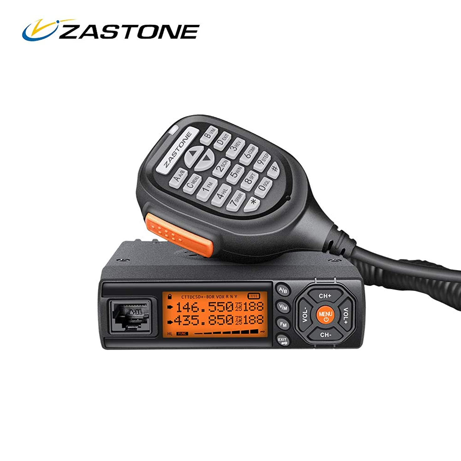 Zastone Mini Z218 25 Watt Dual Band Base, Mobile Radio: 136-174mhz (VHF) 400-470mhz (UHF) Amateur Transceiver for Car