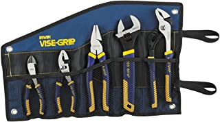 IRWIN Tools VISE-GRIP Pliers Set, 5-Piece Traditional with Tool Wrap (2078708)