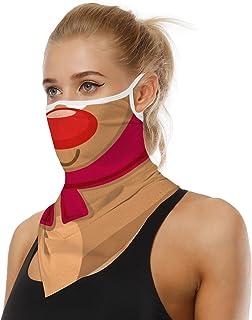 Best BINACL Face Mask Cover Bandana Neck Gaiter Ear Loops Scarf Balaclava Men Women Dust UV Protection Headwear Review