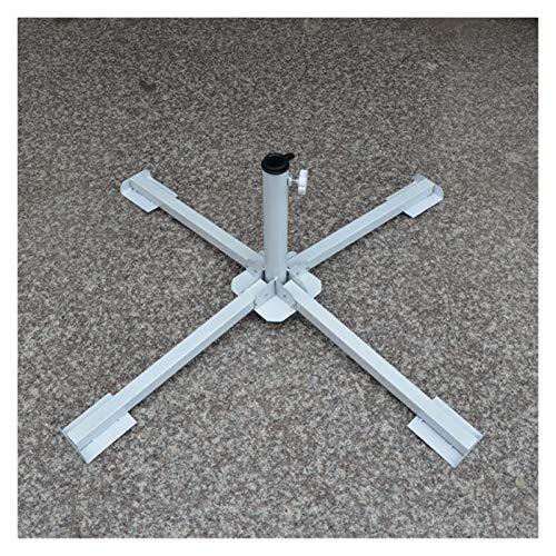 YYCHJU Jardín Sombrilla Base, Base Parasol Pesos Soporte de Metal for césped al Aire Libre Patio Parasol sombrilla (Color : White)