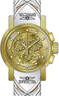 Invicta Men's 48mm Beige Silicone Band Steel Case Quartz Watch 28189