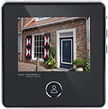 3 Million Pixels Ultra High Definition with 120 Degree Wide Angle Electronic Cat Eye Video Doorbell, with Infrared Night Vision Function, Long Standby Battery