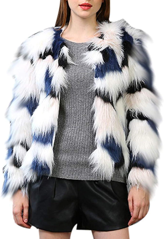 Oudan Women Faux Fur Coat Winter Warm Thick Overcoat  Shorts Parka Jacket  Fashion Autumn,Winter Outwear  Daily,Casual Cardigan