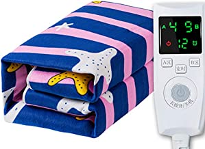Electric Blanket, Fleece Fully Fitted Heated Mattress,Intelligent Automatic Power Off, Safe and Radiation-Free Thick Plush...