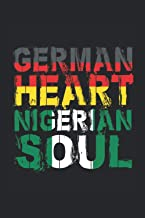 Notizbuch: Blanko Notizheft kariert mit Nigeria Deutschland Cover  120 karierte Seiten   Softcover   A5 Format   schönes C...