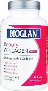 Bioglan Collagen Tablets | 2500mg | Hydrolysed Marine Collagen |Hyaluronic Acid | Resveratrol | Biotin | Selenium & Vitami...