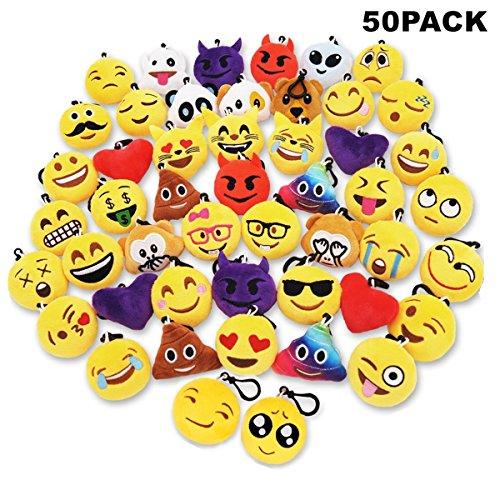 Sunliday 50Pack Emoji Llaveros, Suministros de Fiesta,