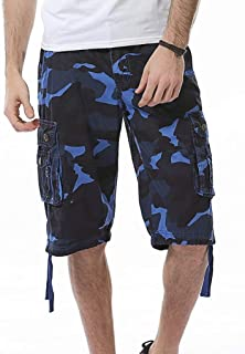d246560ecc Photno Men Cargo Shorts Big and Tall Camouflage Loose Fit Athletic Twill  Straight Multi-Pocket