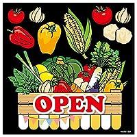 のぼり屋(Noboriya) デコレーションシール 野菜 OPEN 62130