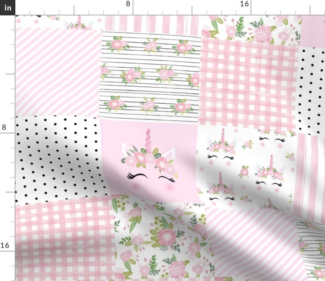 Spoonflower Fabric - Unicorn 正規品送料無料 Quilt Gi Cheater Wholecloth Nursery 公式通販