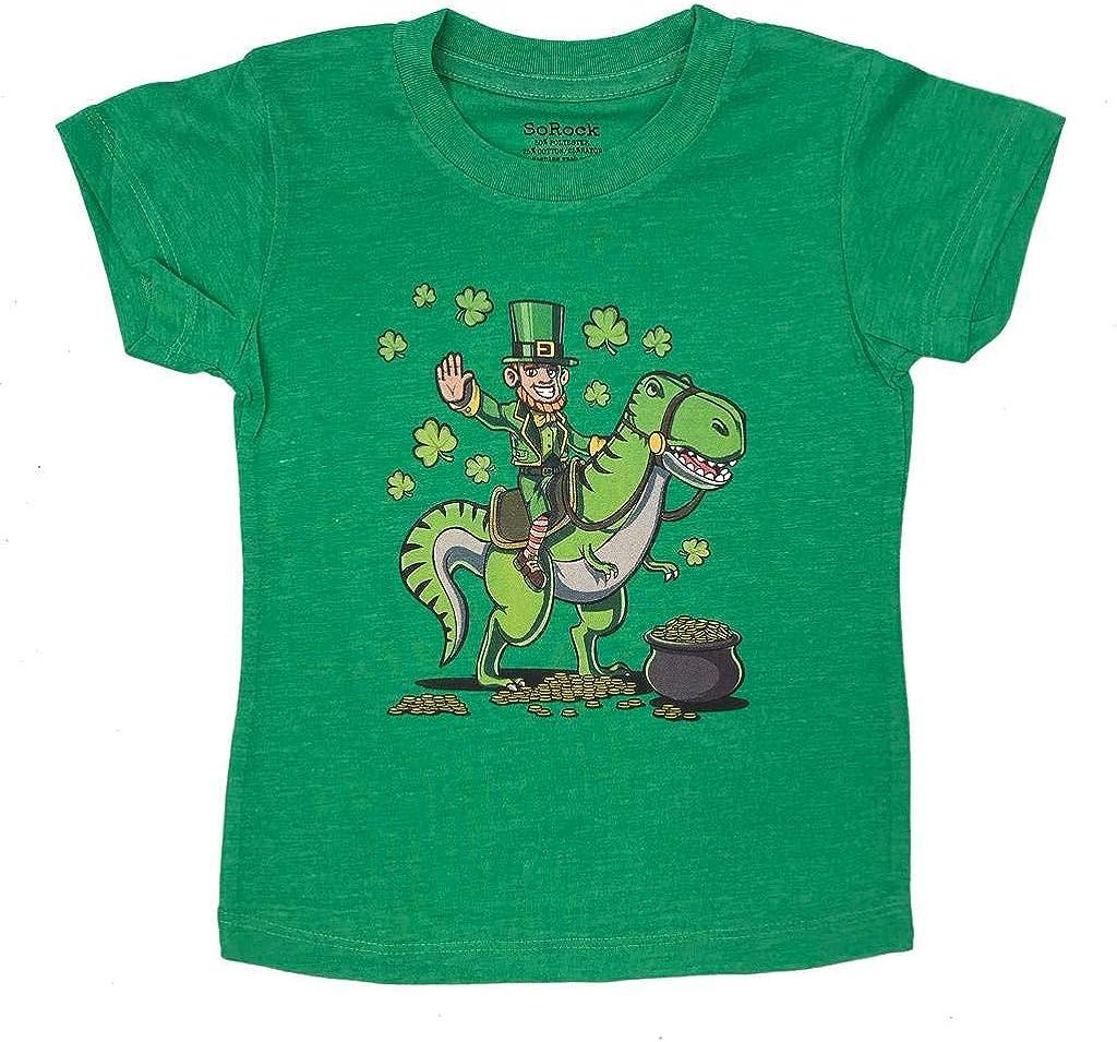 St. Patrick's Day Dinosaur Leprechaun Kids  Youth T-Shirt or 3/