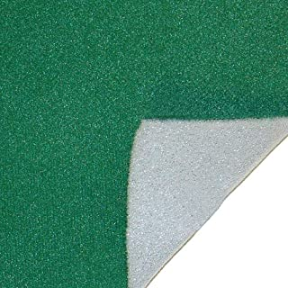 10-Foot x 58-Inch Green Poker Table Felt with Foam Backing by Brybelly