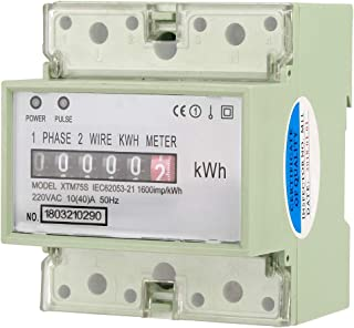 KWh Meter 220V 10(40) A Digital 1-phase 2 Wire 4P DIN-Rail Electric Meter Electronic Meter
