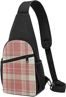 Bolsa de hombro de cuadros de conejo, ligera, mochila para el pecho, bolsa cruzada, bolsas de viaje, senderismo, para homb...
