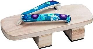 Jiyaru Womens Geta Sandals Wodden Japanese Style High Heel Clog Flip Flop Slippers Footwear