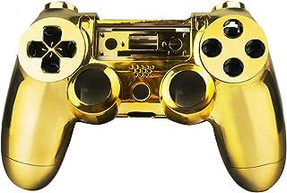 قطعة غيار لجهاز التحكم في الألعاب من SQDeal مصنوعة من الجلد المصقول المصقول لجهاز تحكم سوني بلاي ستيشن 4