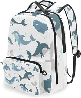 Mochila con bolsa cruzada desmontable, diseño de peces de tiburón, para viajes, senderismo, acampada