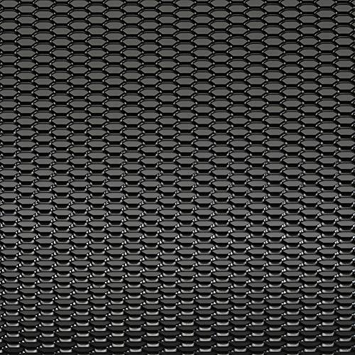 AUTOSTYLE Grillage d'aluminium noir - nid d'abeille 12x6mm - 125x25cm