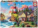 Educa - Faro Cerca del Océano Puzzle, 3000 Piezas, Multicolor (18507)