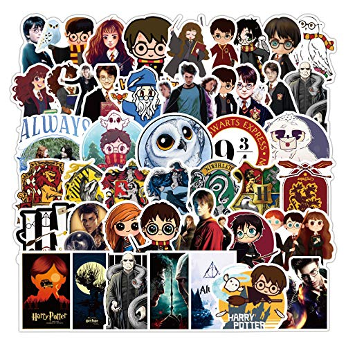 TRRY 100 Packs Harry Potter Cartoon Stickers Waterproof Stickers for Water Bottles, Luggage suitcases, laptops, Phones, Bicycles, Motorcycles, Cars