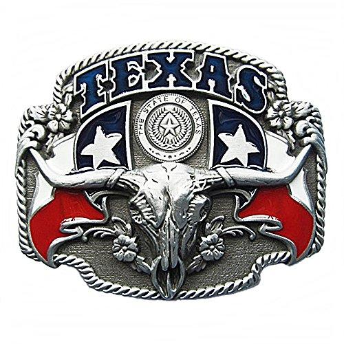 Westernlifestyle Gürtelschnalle Buckle Gürtelschliesse für Wechselgürtel Longhorn Texas Lone Star Country LineDance