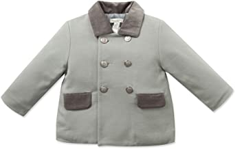 Kids N Color Grey Double Breasted Toddler Jacket with Velvet Collar & Pockets(18m)