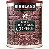 Kirkland Signature 100% Colombian Supremo Ground Coffee 3 Lb. Can 2-pack