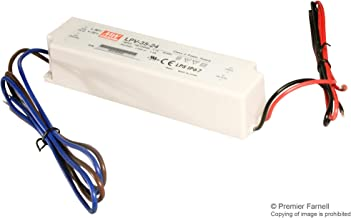 LPV-35-24 - LED Driver, ITE, 36 W, 24 V, 1.5 A, Constant Voltage, 90 V, 264 V (Pack of 2) (LPV-35-24)