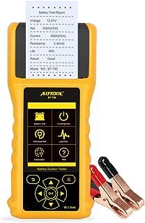 24V Voitures V/éhicules Camions Syst/ème de charge Outil de diagnostic avec imprimante et 3PCS Imprimante Papier Auto Testeur de batterie de voiture Analyseur de batterie de voiture pour 12V