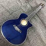 YYYSHOPP Guitarra Spruce sólido Top Sunburst Sunburst Flamed Maple 614 Guitarra acústica con Personalizado (Color : Guitar, Size : 40 Inches)