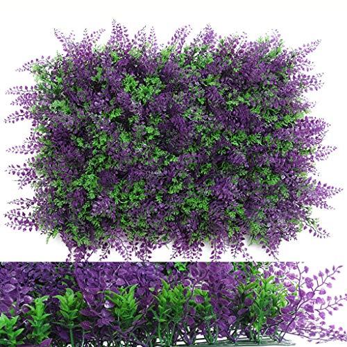 HKD Alfombra De Césped Artificial Artificial Seto Panel Pared De Planta De Imitación for La Boda De Jardín En El Patio Trasero (Color : Purple, Size : 40cm*60cm)