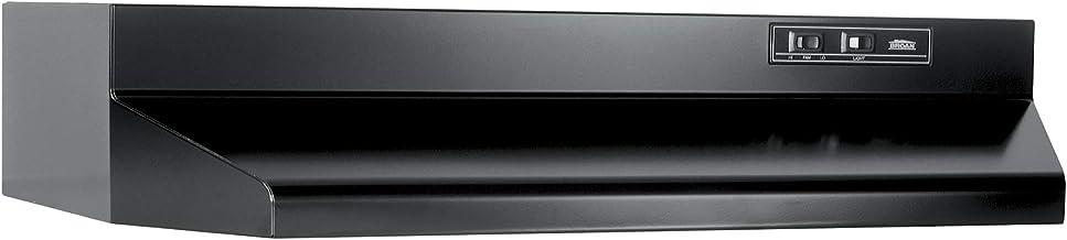 "Broan-NuTone 403623 Convertible Range Hood Insert with Incandescent Light, Exhaust Fan for Under Cabinet, Black, 6.5 Sones, 160 CFM, 36"""