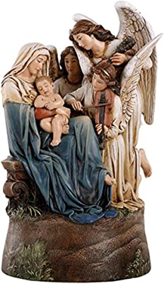 Madonna and Child The Song of Angels Musical Figurine Resin Statue 9 inch