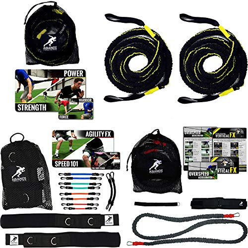 Kbands Elite Speed Training Kit - Kbands - Reactive Stretch Cord - Victory Ropes (User's Waist is 32-39 Inches)