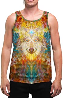 BeauWolf | Mens | Tank Top | Spiritual | Aesthetic | Clothing | Tanks | Yoga | Wolf | Festival | Meditation | Gift | Animal Totem | Psychedelic