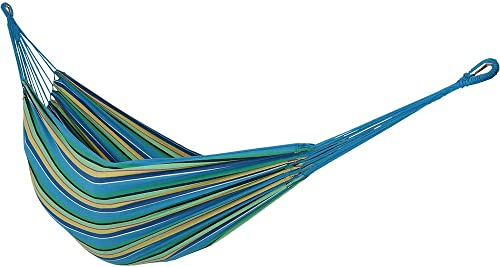 discount Sunnydaze Brazilian Double Hammock, sale 2 Person Portable Bed - for online Outdoor Patio, Yard, and Porch (Sea Grass) outlet sale