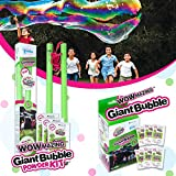 WOWMAZING Giant Bubble Powder Kit & Giant Bubble Powder MixC| Makes 9 GALLONS | Turns Dish Detergent into Big Bubbles | Non Toxic Safe & Natural | Birthdays,Outdoor Family Fun for Girls & Boys