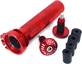JFG RACING Red CNC Aluminum Billet Twister Throttle Tube Bar Ends Cap Plugs For For Honda CRF250R CRF250X 2004-2017 CRF450X 2005-2017 CRF450RX 2017
