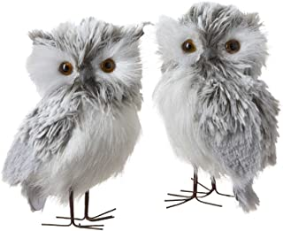 Best Kurt Adler 5-Inch Furry Gray Owl Set of 2 Review