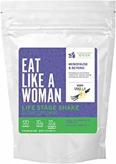 Plant Based Organic Protein Shake Powder- Menopause & Beyond, Vanilla, All-in-One Shake,22 Servings - Gluten, Soy and Dairy Free