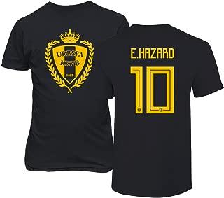 Belgium 2018 National Soccer #10 Eden HAZARD World Championship Men's T-Shirt