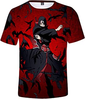 Bettydom Fashion T-Shirts Short Sleeves Tee Tops Show Love for The Japanese Anime Naruto
