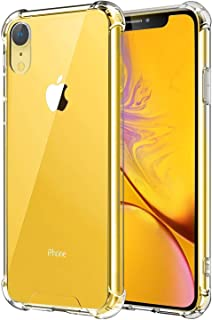 Plus Protective Soft Transparent Shockproof Hybrid Protection Back Case Cover for Apple iPhone XR