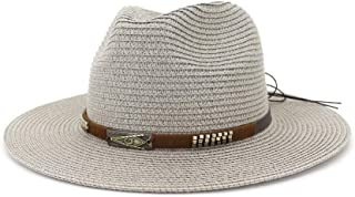 Sun Hat for men and women Summer Women Straw Sun Hat White Flat Wide Side Ladies Jazz Hat Fedora Hat Visor Beach Sombrero Hat