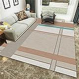 Pasillo Cocina Escalera Diseño Moderno,Sala de Estar Simple Multi-Color Rayado Rectangular Empalme cómodo Deco alfombra-120x160cm