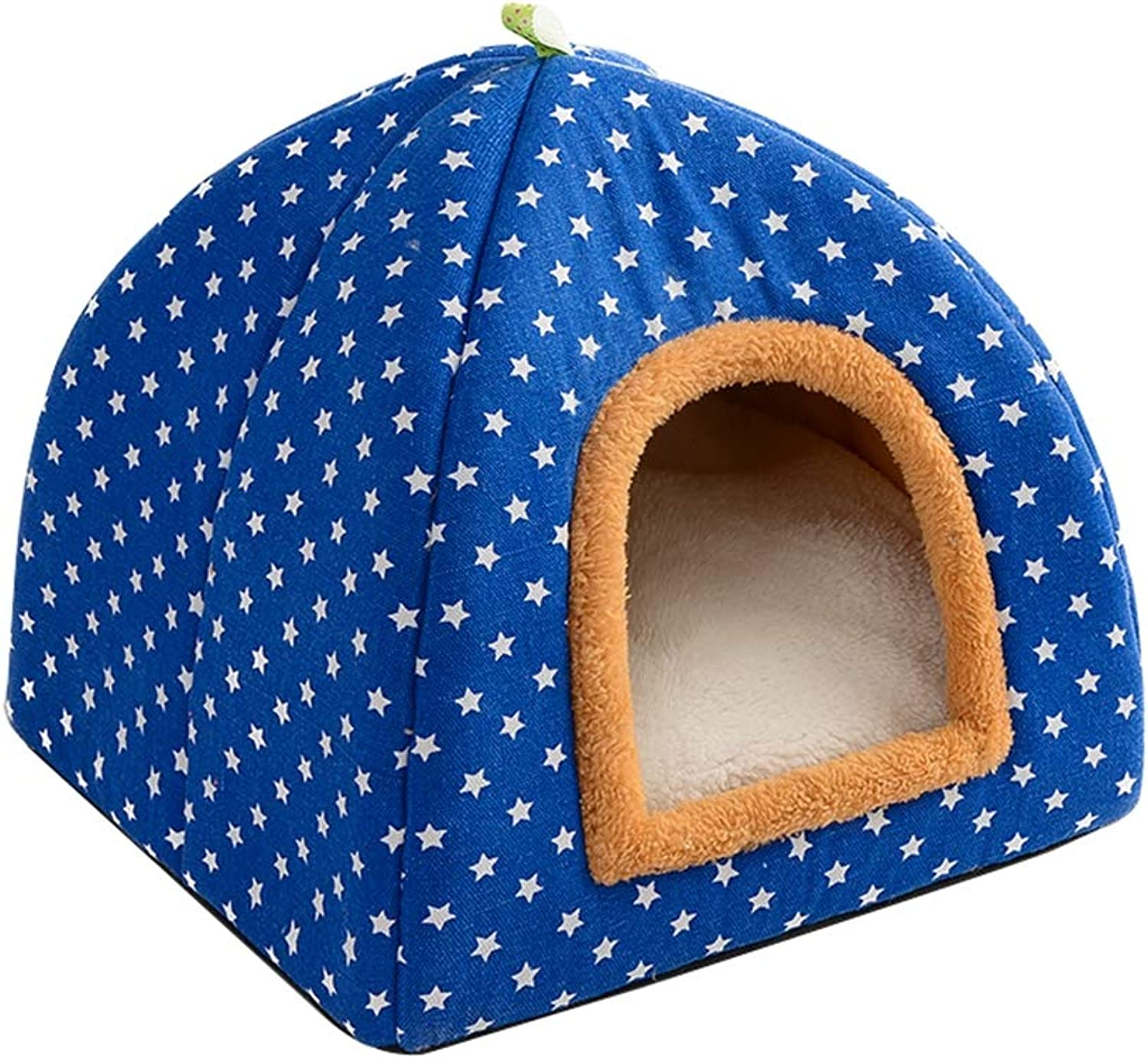 Pet Kennel with a Ring cat Kitten cat Litter Puppy Small Dog House,bluee,S
