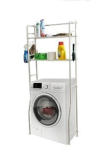Mind Reader Washing Machine Shelf, White 2 Tier