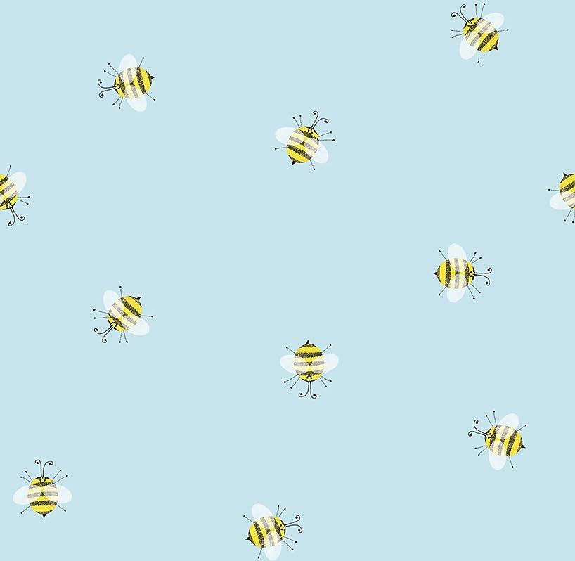 Jillson Roberts 12 Sheet-Count All-Occasion Flat Folded Gift Wrap, Honey Bees