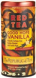 The Republic of Tea Red Tea African Rooibos Herb Good Hope Vanilla - 36 Tea Bags